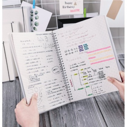 Notebook A5/B5 Size 80 Sheets/160 pages Grid/Line 5mm网格/线条笔记本 80张/160页
